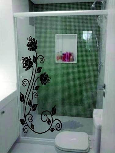 Adesivos Decorativos Box Blindex Espelho Vidro Decorar Com