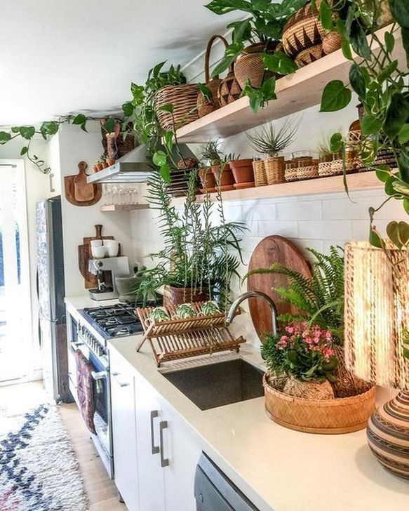 52 dreamy bohemian style kitchen design ideas to try asap in 2020 bohemian kitchen bohemian on boho chic kitchen table ideas id=68793