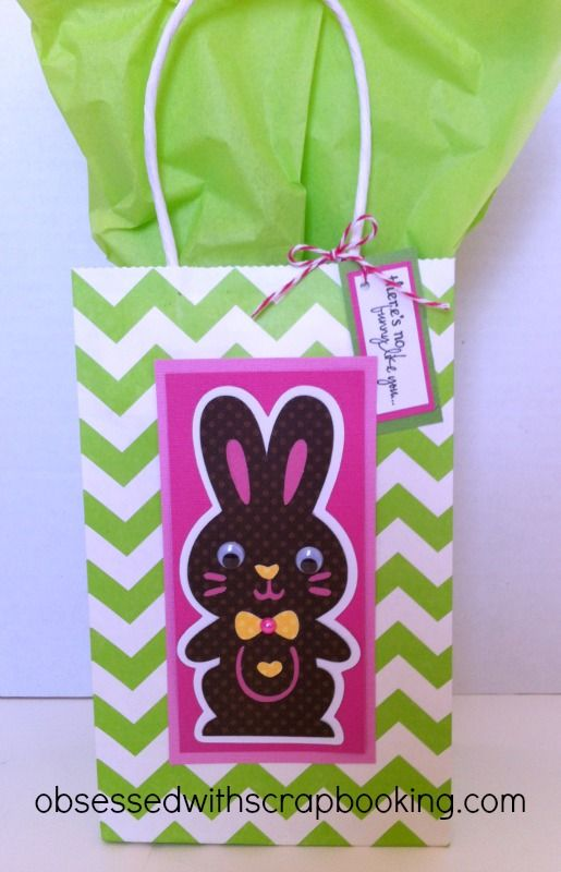 Obsessed with scrapbooking quick easter treat bag easter obsessed with scrapbooking quick easter treat bag negle Gallery
