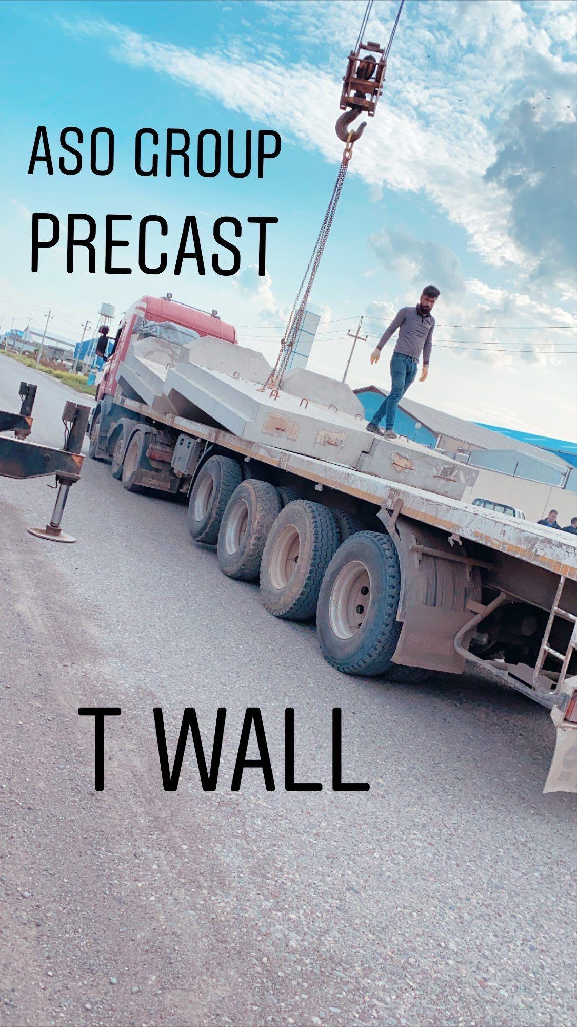 T Wall Precast Concrete Barrier In 2020 Precast Concrete Concrete Wall