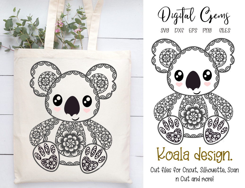 Koala SVG / DXF / EPS / PNG files Animal design, Design