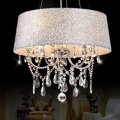 165 29 Qingming 5 Light 50 20 Crystal Chandelier Metal Electroplated Modern Contemporary 110 120v 220 240v Crystal Ceiling Light Bedroom Ceiling Light Chandelier Bedroom