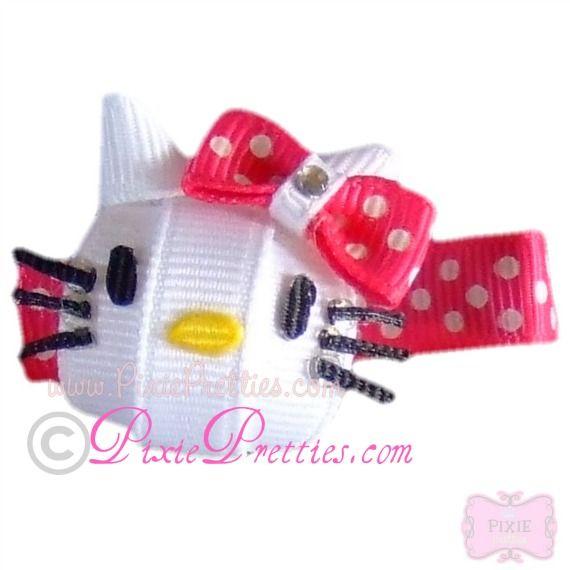 Hello Kitty Ribbon Sculpture Hair Clip
