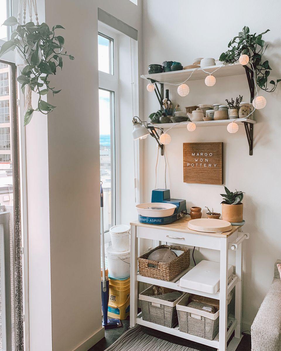 Mini Pottery Studio Pottery Studio Studio Room Ideas Apartment Art Most popular room ceramics