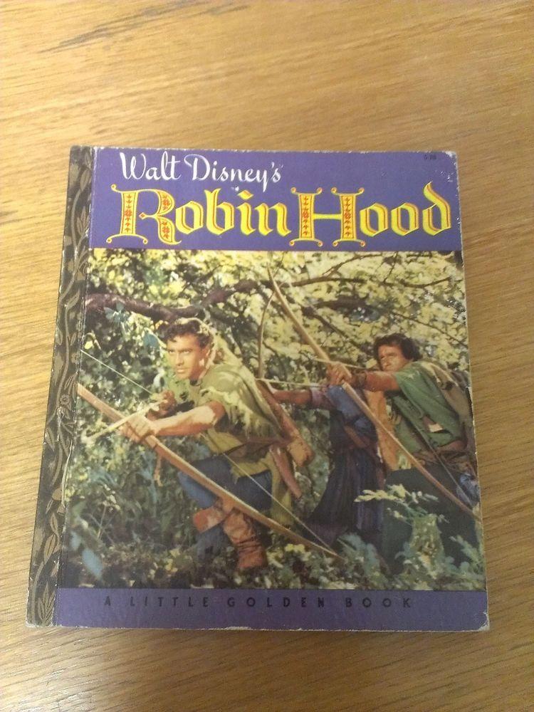 robin hood  1950s little golden book hc  little