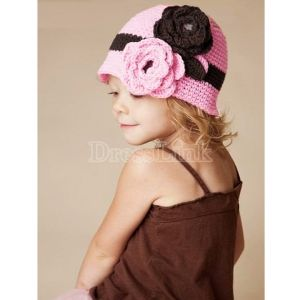 New Girl Baby Children Handmade Crochet Knitting Flower Beanie Beret Cap Head Hat