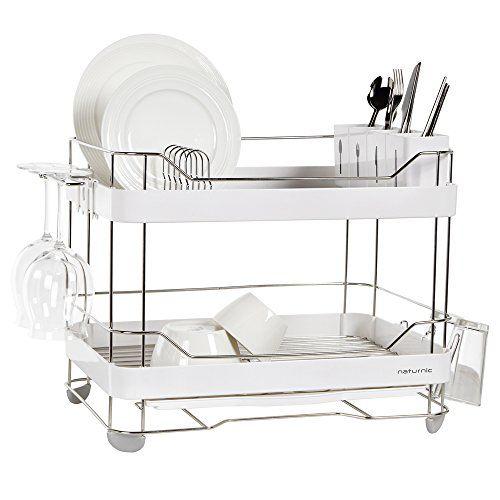 2 Tier Wide Dish Rack Naturnic Cube Https Www Amazon Com Dp B013d71ejm Ref Cm Sw R Pi Dp X Ljacybaemhafa Dish Rack Drying Dish Racks Best Dishes