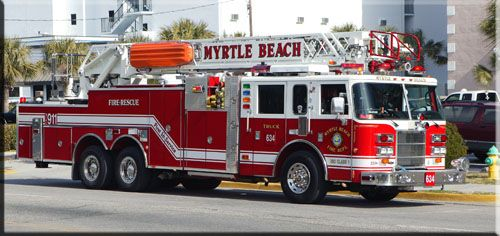Myrtle Beach Sc Fire Department Fire Trucks Fire Rescue Fire