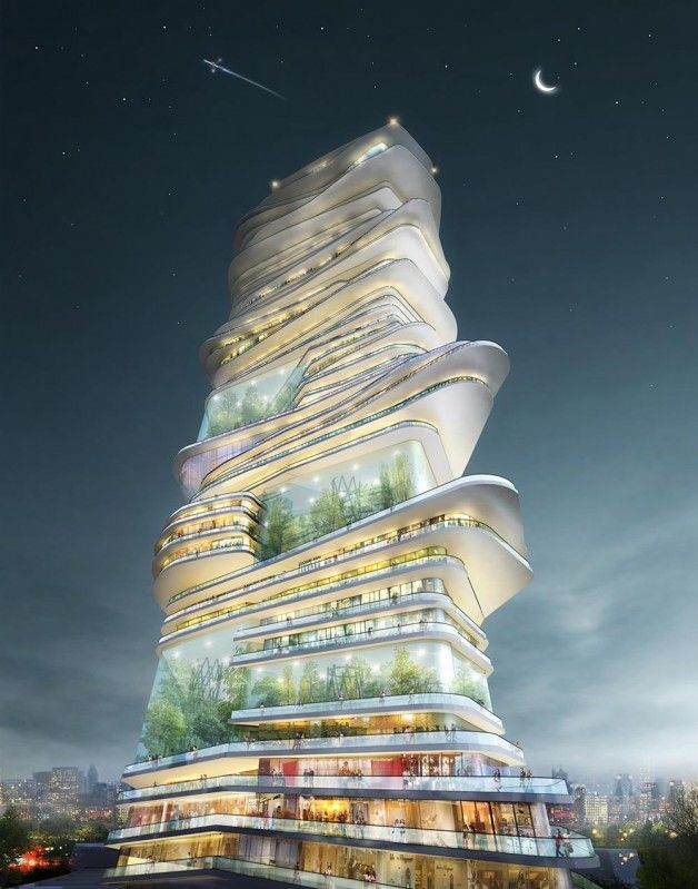 An Organic skyscraper proposal named The Endless City in Height designed by SURE Architecture wins the first prize in London Organic Skyscraper competition.