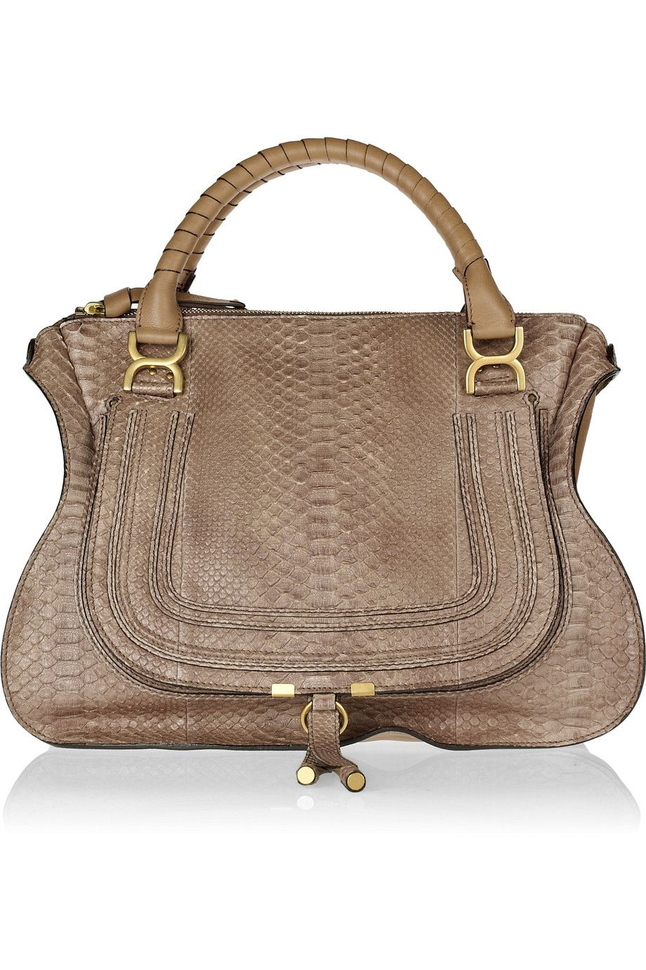 6b0342a2f5b3 Chloe Marcie Large python and leather tote - gorgeous! Named my dog after  the Chloe Paddington.