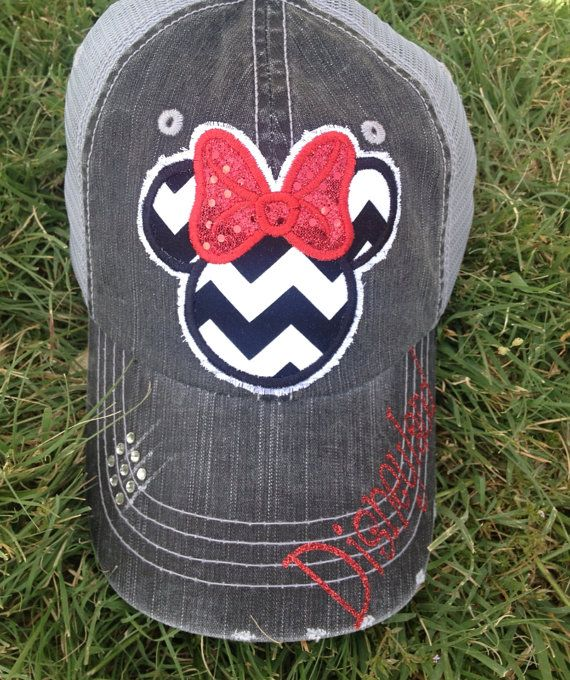 fde2c3b7f0808 Disney Minnie Mouse Trucker Baseball Hat. Perfect for Disney World or  Disneyland. By Chasing Elly