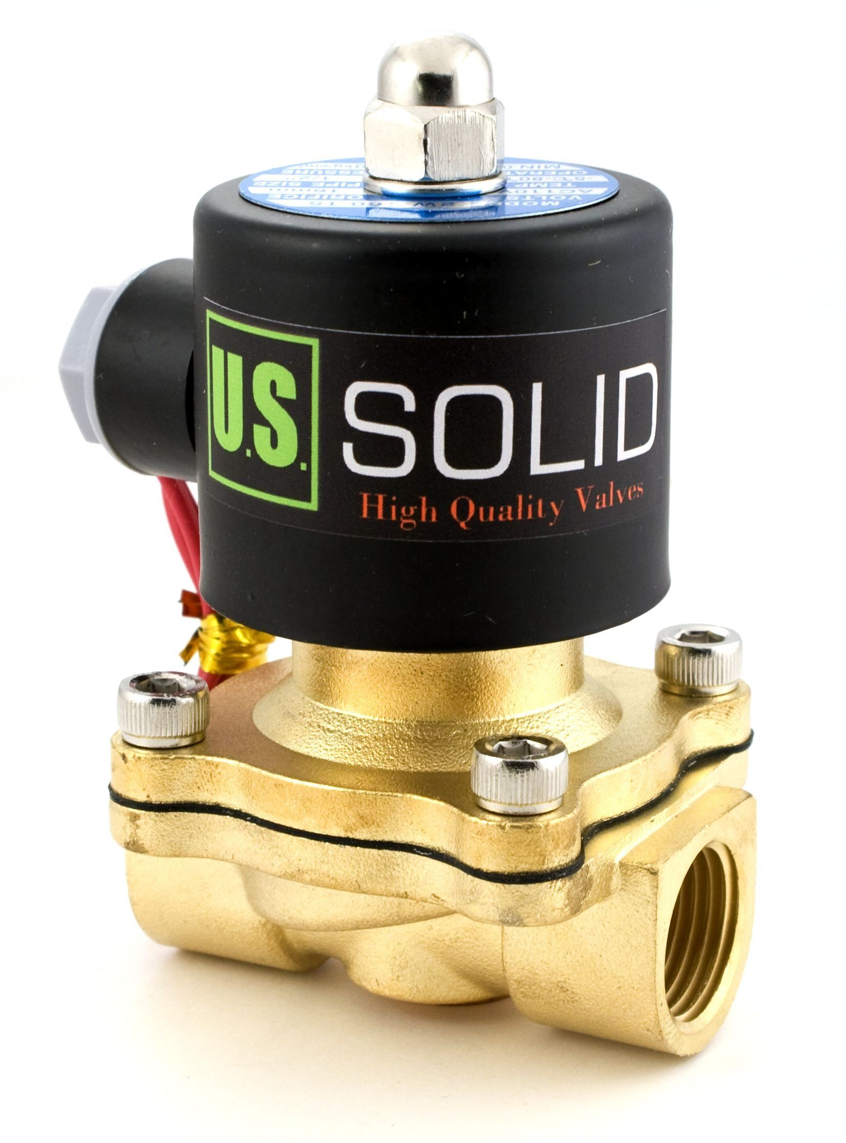1 2 Brass Electric Solenoid Valve 24vac Air Water Nbr Normally Closed Ad Valve Sponsored Solenoid Brass Electric Valve Electricity Gas