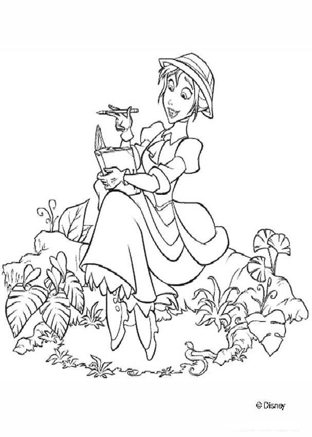 Tarzan Coloring Pages Jane 1 Disney Coloring Pages Disney