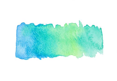 Blue Green Watercolor Gradient Splash Stock Photo Watercolor