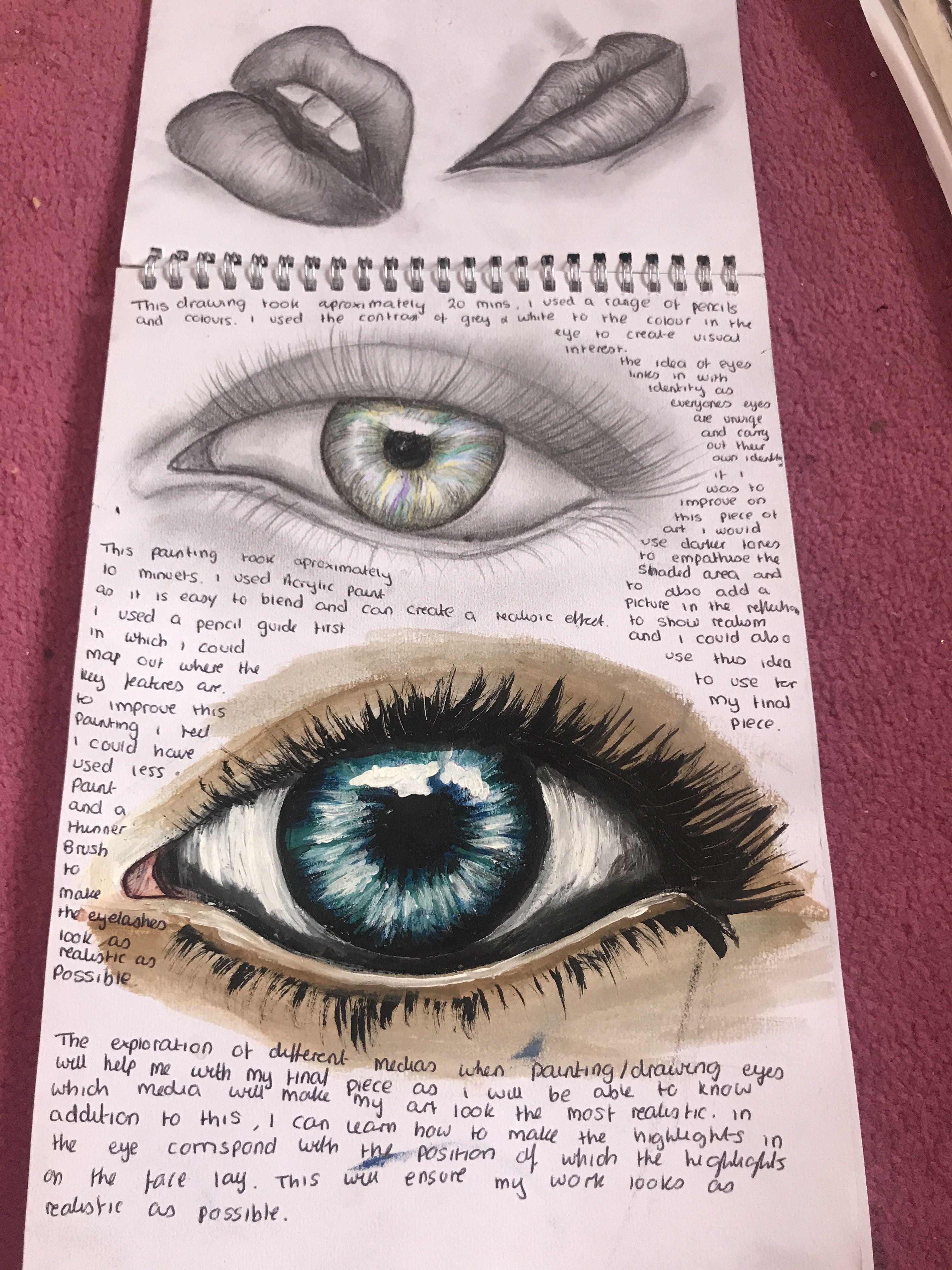 Different Mediums Eye Art Gcse