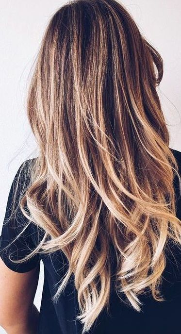 Pretty hair highlights ombre balayage beauty hair for Ombre blond braun