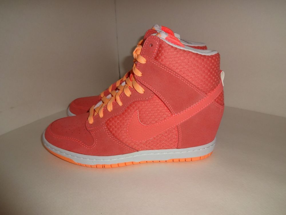 new style 9f94c 53248 Womens Nike Dunk Sky Hi Essential Wedge Lava Glow Sunset Shoes Size 8.5  Nike FashionSneakers