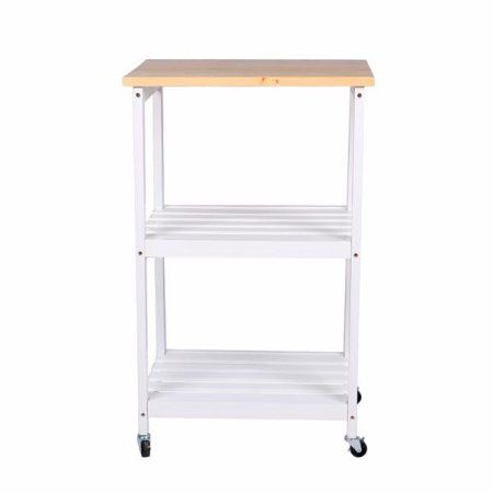 Yaheetech 3 Tiers Kitchen Bakers Rack Microwave Cart Storage Stand