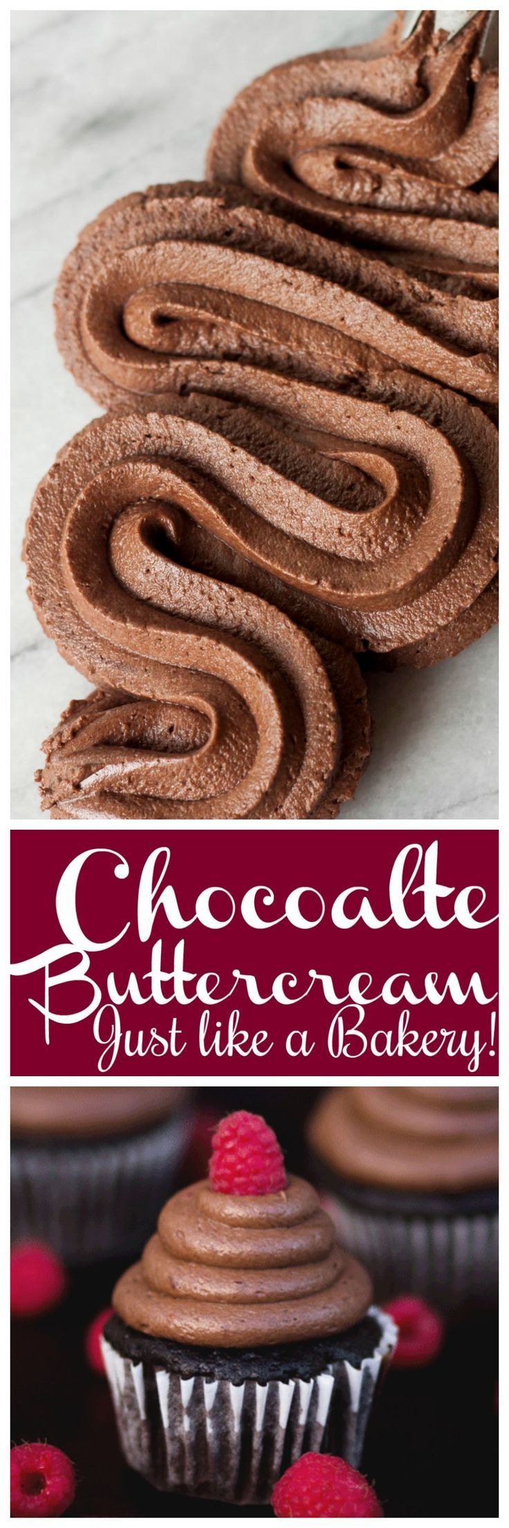 Chocolate buttercream that is smooth and delicious! Perfect for cakes, cupcakes, and filling!