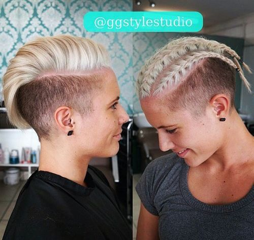70 Most Gorgeous Mohawk Hairstyles Of Nowadays Mohawk Hairstyles Thick Hair Styles Short Hair Styles