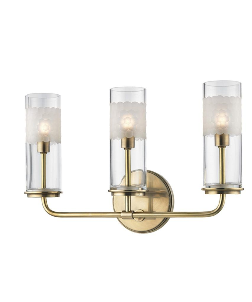 Antique Brass Bathroom Light Fixtures