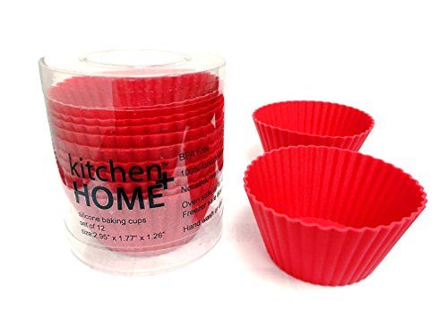 Silicone Baking Cup Liners 12 Reuseable Nonstick Baking Cups