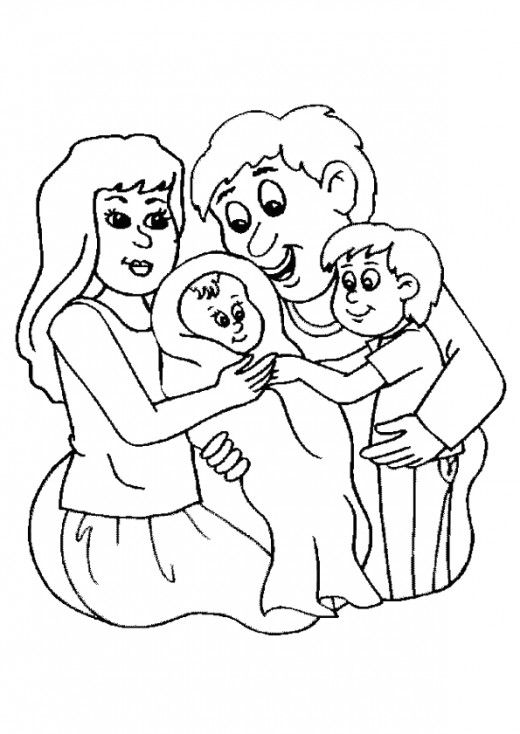 Family Mom Dad And Baby Coloring Page Family Coloring Pages Baby Coloring Pages Family Coloring