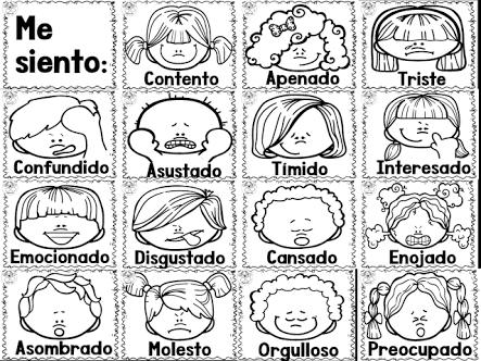 Las Emociones En Espanol Para Colorear | www.imagenesmy.com