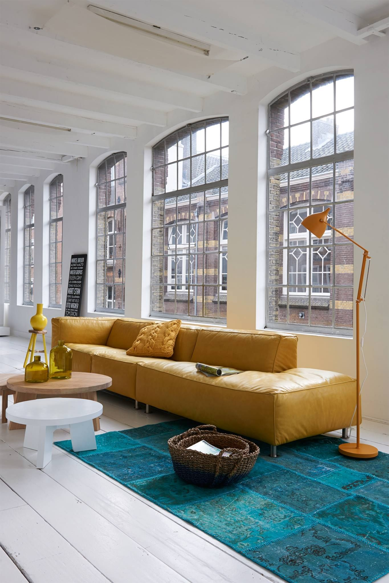#yellow #sofa #industry #look