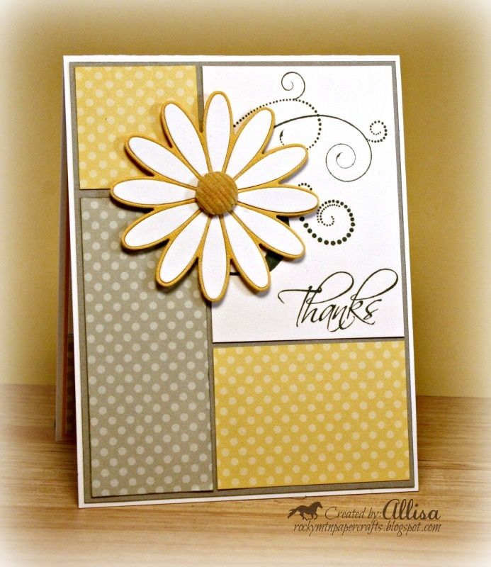 Paper Craft Card Making Ideas Part - 34: CTMH Dotty For You Thank You / Rocky Mountain Paper Crafts: Papercraft  Star. Find This Pin And More On Card Making Ideas ...