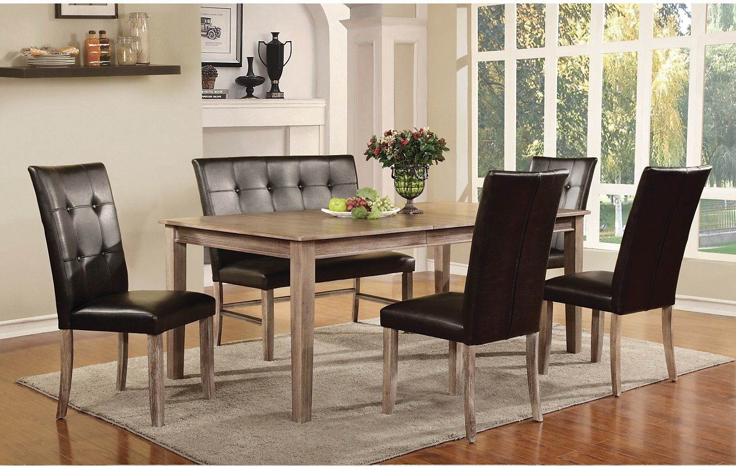 Kadyn 7 Piece Dining Package The Brick Modern Dining Room Set