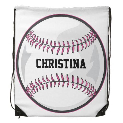 Personalized Sport Girls Baseball Ball Player Baseball Girls Personalized Sports Baseball Balls