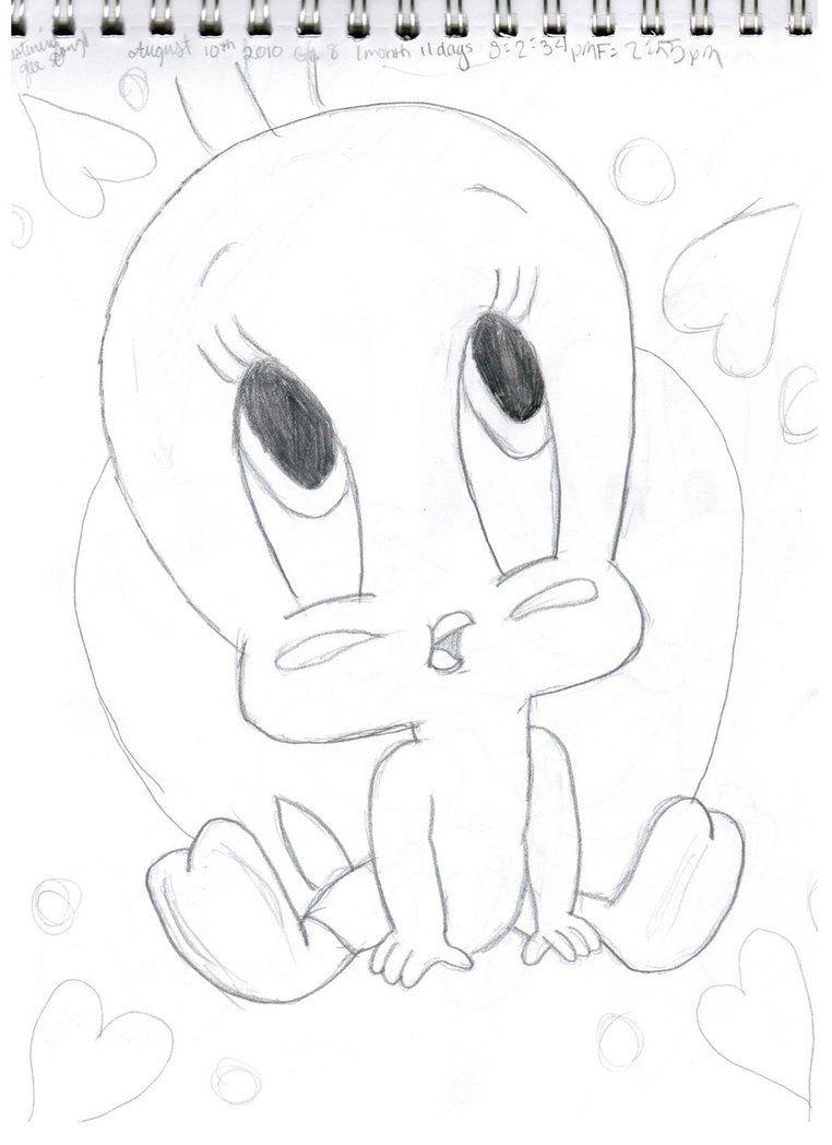 Tweety Bird When He Was a Baby  baby tweety bird by enilasor