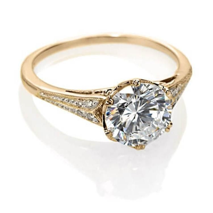 Yellow Gold Vintage Engagement Ring In 2019 Vintage Gold
