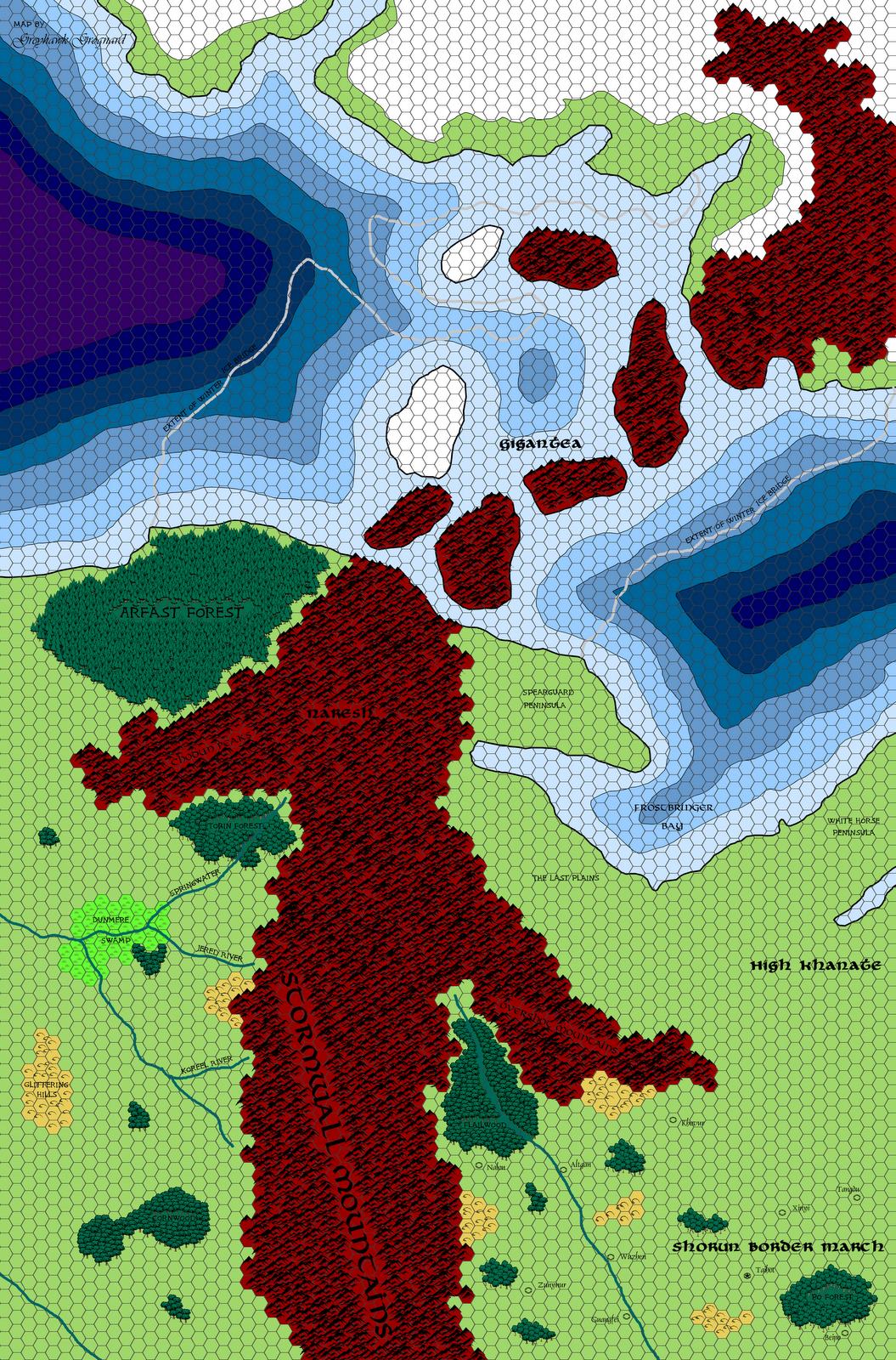 Amazing Greyhawk Grognard: Mapping Beyond The Flanaess: Naresh And Northwestern  Suhfang