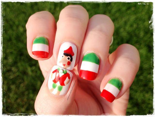 İtalya Bayrağı ve Pinokyo Nail Art / Italian Flag and Pinocchio Nail ...