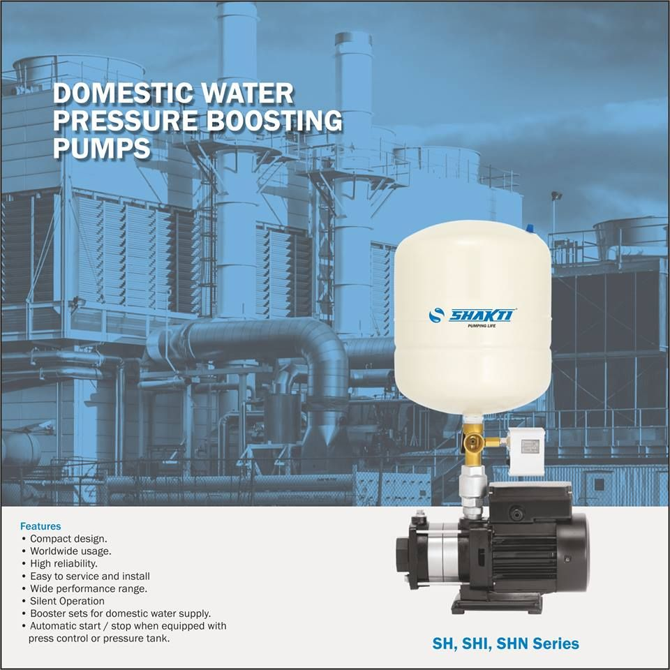 Domestic water pressure boosting pumps are designed specially for ...