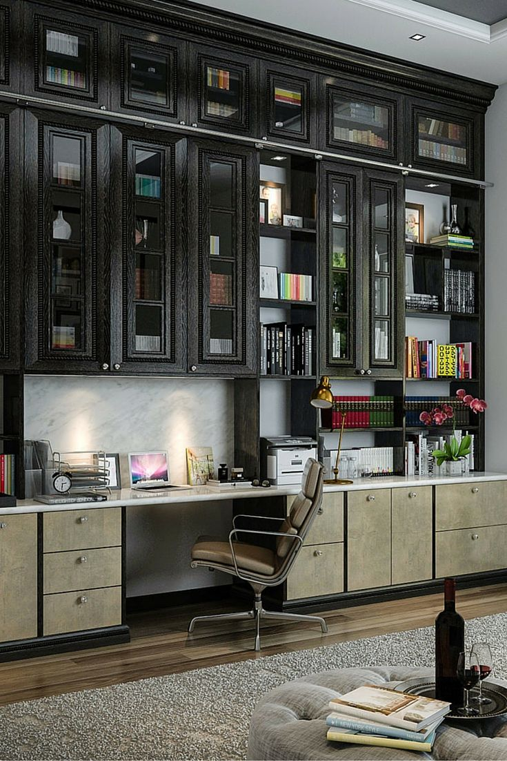 home office unit. ELEGANT HOME OFFICE | Awesome Built-in Desk And Wall Unit By Custom Factory Home Office I