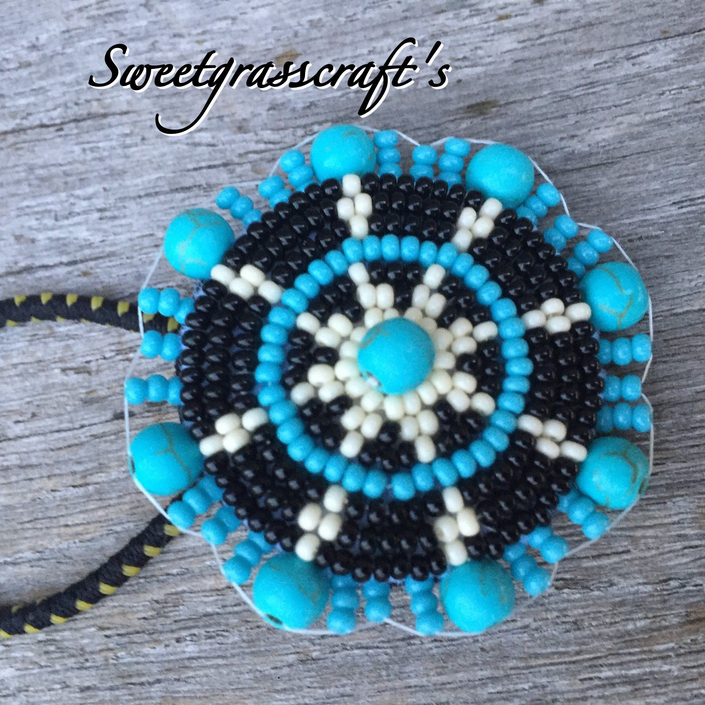 Beaded ponytail holder or barrette  f97f8d46caa