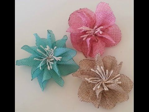 DIY-How to make flowers out of Burlap! (Burlap flower tutorial) - YouTube