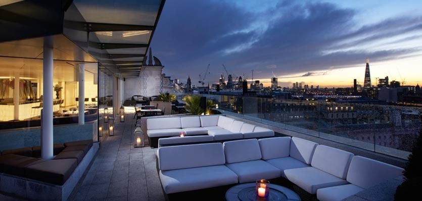 Radio rooftop bar me 5 star london hotel interior for Terrace hotel london