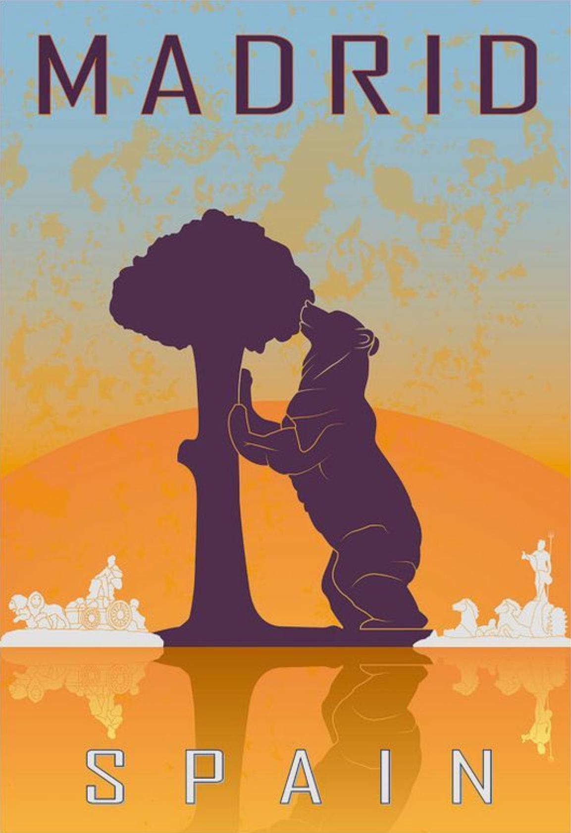 Madrid Spain Paul Rommer Reisposters Poster Foto S