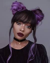 image result for space buns with bangs  haiiiirz