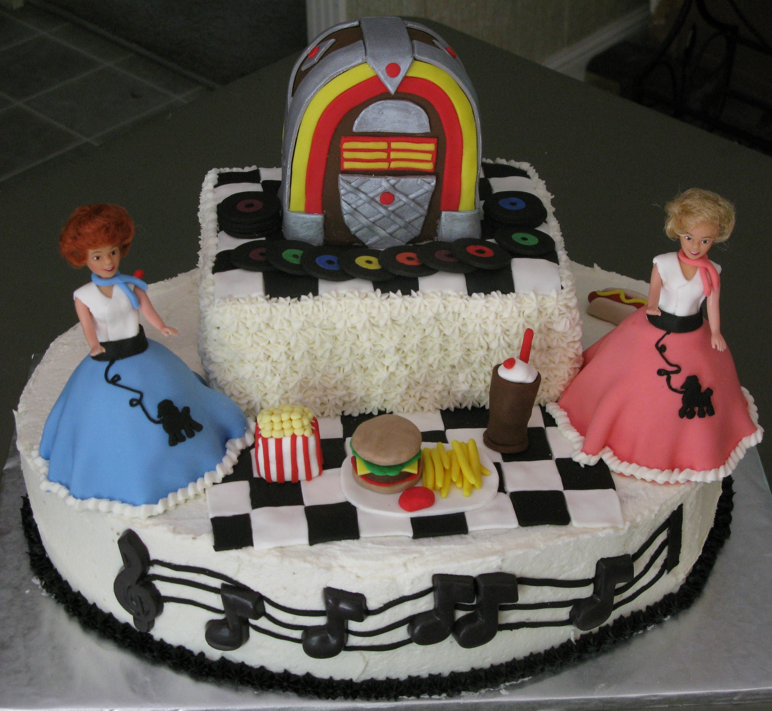 Rockin And Rollin 1950 S Cake Cakes Pinterest Cake