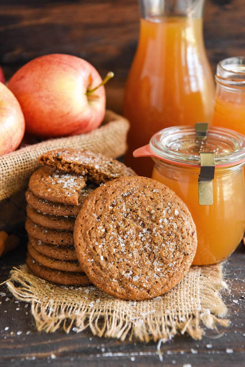 Apple Cider Cookies extra chewy cookies with crispy edges