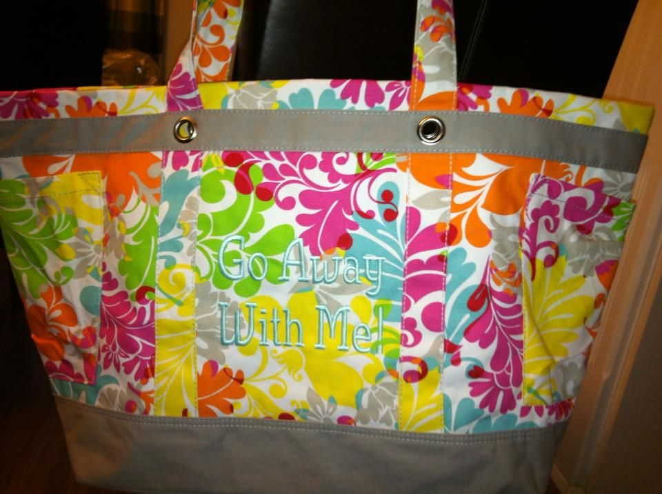 Thirty one Easy Breezy large Beach mummy tote bag 31 gift Best Buds retired