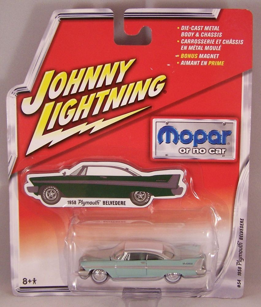ctd-Johnny Lightning 2005 Mopar or No Car '58 Plymouth Belvedere-ltblue/A32