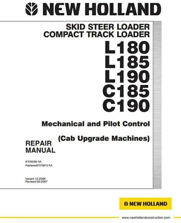 new holland skid steer loader c185 c190 l180 l185 l190