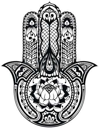 Vecteur Indienne Symbole Hamsa Dessiné à La Main Tattoo I Like