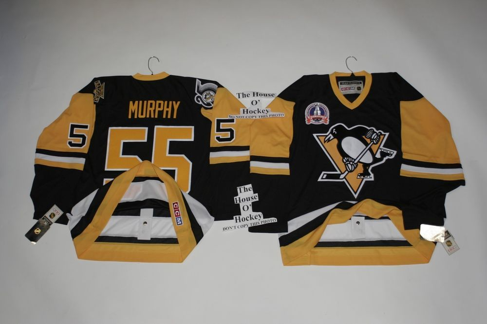 55 Murphy Pittsburgh Penguins CCM Jersey 1992 Stanley Cup Patch W  Fight  Strap  CCM  PittsburghPenguins 6168adfe3